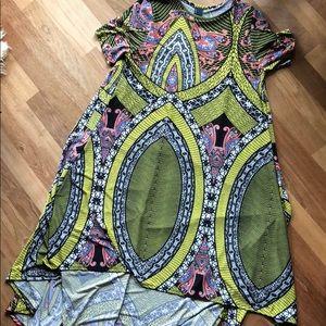 Solo La Fe multi-color high-low Dress.